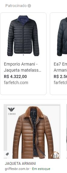 Google Imagens com produtos do Merchant